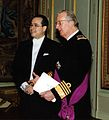 Cropped Amb Federico Cuello Presents Credentials to King Albert II - Brussels 16 2 2005.jpg