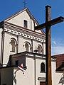 Crucifix and Church Facade - Lublin - Poland (9210595972).jpg