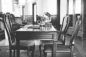 Culver Hotel - Image: Culver 2nd floor reception Yellow Heart