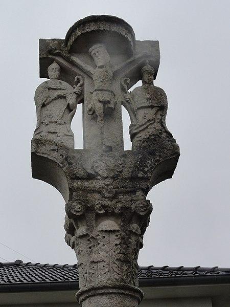 Cutry (Meurthe-et-M.) croix de chemin 1839, détail