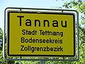 D-BW-Tettnang-Tannau - Ortsschild Zollgrenzbezirk.JPG