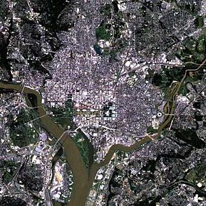 District - Satellite photograph of the District of Columbia.