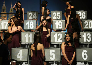 Deal or No Deal 'number girls' durIng the come...