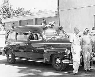 Ambulance - Early car-based ambulances, like this 1948 Cadillac Meteor, were sometimes also used as hearses.