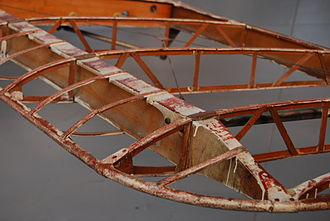 Spar (aeronautics) - Main spar of a de Havilland DH.60 Moth
