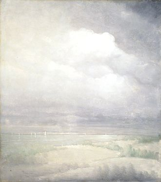 Leon Dabo - Silver Light Hudson River (1911), oil on canvas. Brooklyn Museum.