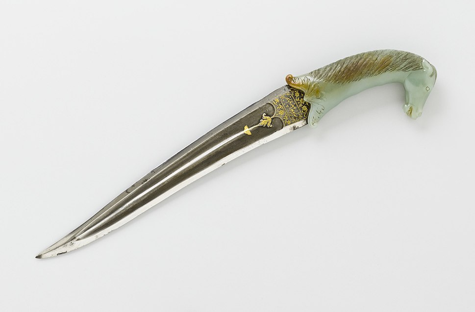 Dagger (khanjar) of Emperor Aurangzeb (reigned 1658-1707) and sheath LACMA M.76.2.7a-b (3 of 9)