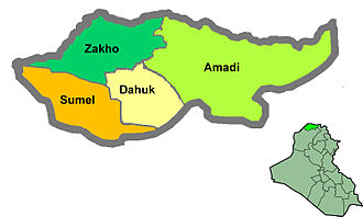 Districts of Iraq - Image: Dahukdistricts