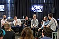 Dale Harris, Gwilym Davies, James Hoffmann, Stephen Morrissey and Tim Wendelboe discuss barista competitions at the London Coffee Festival.jpg
