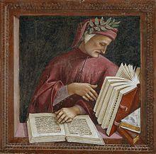 Luca Signorelli, Dante, affresco, 1499-1502, particolare tratto dalle Storie degli ultimi giorni, cappella di San Brizio, Duomo di Orvieto