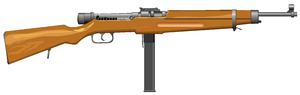 Danuvia 43M submachine gun - The earlier 39M variant