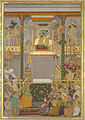 Darbar of Shah Jahan, Page from the Windsor Padshahnama, ca. 1657, The Royal Library, Windsor Castle.jpg