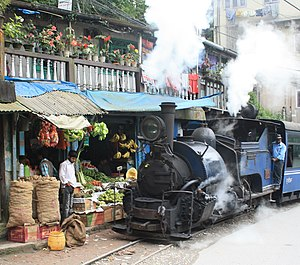 Darjeeling Himalayan Railway - Image: Darjeeling Train Fruitshop Crop