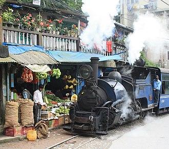 Darjeeling Himalayan Railway - Image: Darjeeling Train Fruitshop Crop