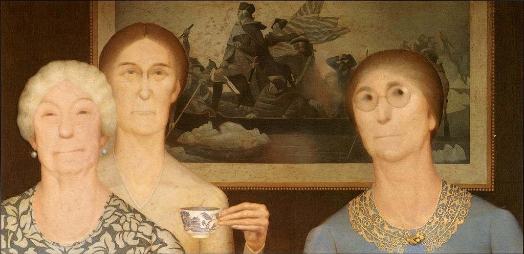 """""""Daughters of Revolution"""" by Grant Wood"""