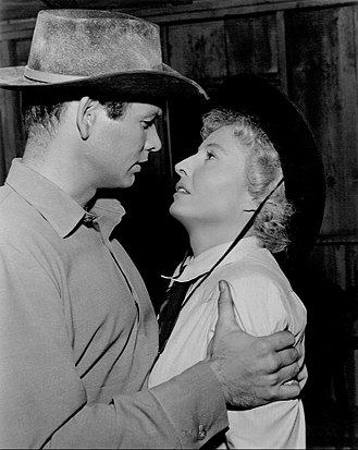 "Dick Powell's Zane Grey Theatre - David Janssen and Barbara Stanwyck in episode ""Trail to Nowhere"" (1958)"