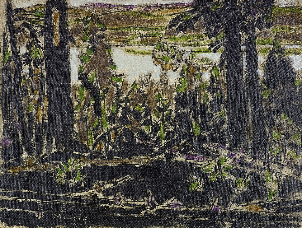 David Milne Painting Place Brown and Black