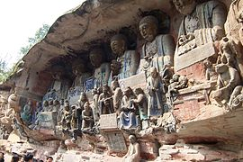 Dazu rock carvings baoding buddhas.JPG