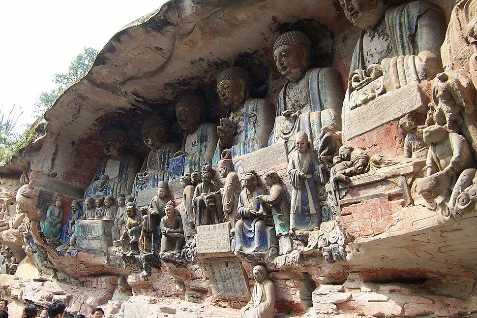 Dazu rock carvings baoding buddhas