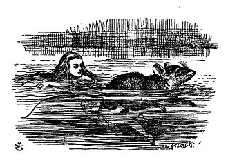 "Mouse (Alice's Adventures in Wonderland) - John Tenniel's illustration of the Mouse in ""The Pool of Tears"". An illustration from Alice in Wonderland."