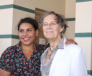 Barry Otto - Otto is with Australian actress Deborah Mailman in 2012.