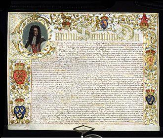Earl of Abingdon - Image: Deed