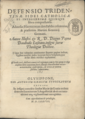 Defensio Tridentinæ fidei catholicæ, 1578 - Title Page (BNP).png