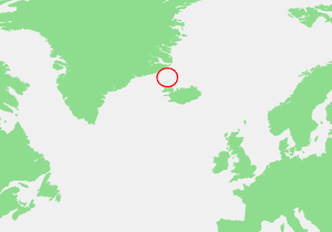 Denmark Strait - Location map