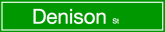 Roads in Ontario - Image: Dension Street Sign