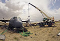 Deployed maintainers return damaged aircraft to combat operations 130701-F-XX999-742.jpg