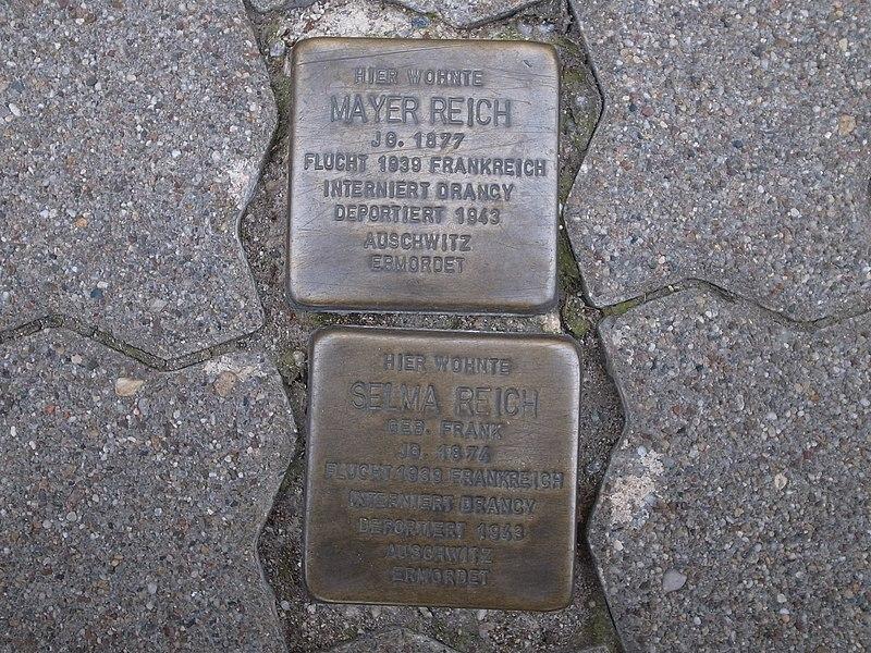File:Dessau,Stolperstein Schlossplatz1,Mayer,Selma Reich.JPG