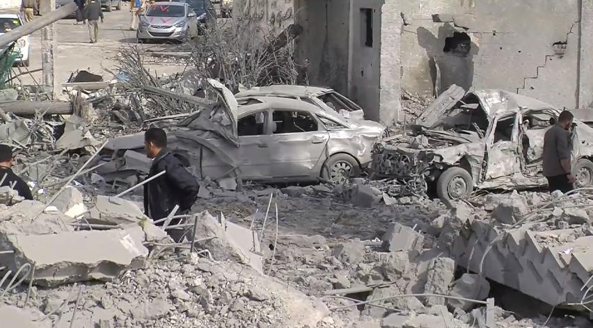 Destroyed Gaza cars