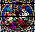 Detail, Stained glass window n.38, Lincoln Cathedral (14224464197).jpg