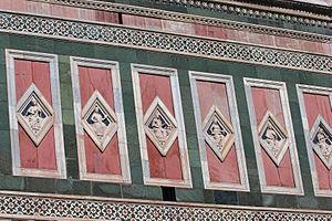 Giotto's Campanile - Lozenges of north side.