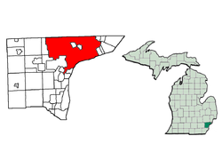 Location in Wayne County, Michigan