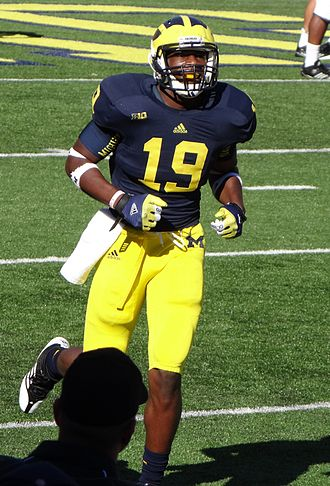 2012 Michigan Wolverines football team - Freshman tight end Devin Funchess scored his first Michigan touchdown against Air Force.