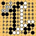 Diagrama do final de uma partida de Go em tabuleiro 9x9 rotulado.jpg