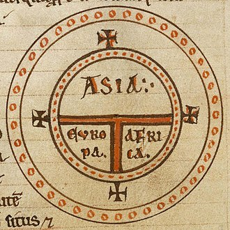 T and O map - Image: Diagrammatic T O world map 12th c