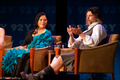 Diana Gabaldon and Ronald D. Moore Outlander Premiere in NY.png
