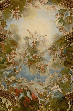 Almighty God the Father, by Antoine Coypel, Royal Chapel, Palace of Versailles