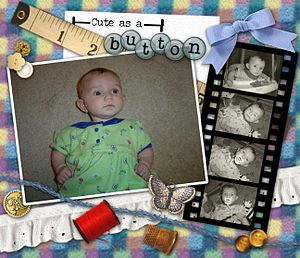 English: Example of a digital scrapbook page c...