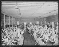 Dining-hall for campers. Here they are singing one song which is acted out. Koppers Recreation Camps, Inc. Camp... - NARA - 540908.tif