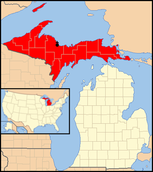 Roman Catholic Diocese of Marquette - Image: Diocese of Marquette map 1