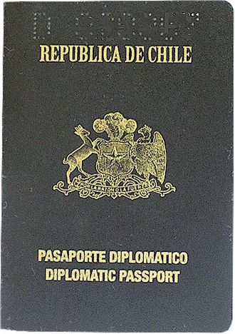 Chilean passport - Image: Diplomatic passport of Chile since 2005
