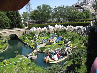 Storybook Land Canal Boats - View of attraction from Casey Jr. Circus Train in 2007