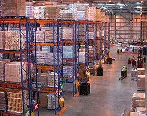 Distribution center - Sainsbury's distribution center in Waltham Point, Hertfordshire, United Kingdom.
