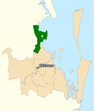 Division of Petrie - Division of Petrie in Queensland, as of the 2016 federal election.