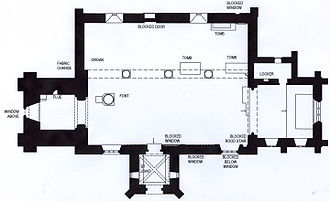 Dodford, Northamptonshire - Plan of Dodford Church