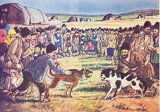 Dog-baiting - Azim Azimzade, Dog baiting, 1938
