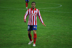 Álvaro Domínguez Soto - Domínguez in action for Atlético Madrid in 2009
